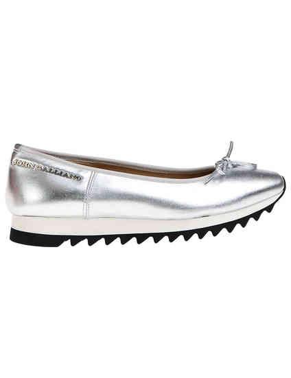 серебряные женские Балетки John Galliano 7906_silver 6514 грн