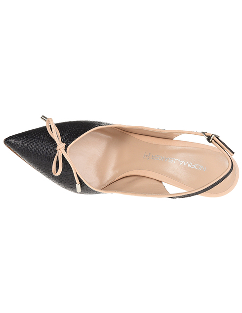 женские черные кожаные Туфли Norma J.Baker 4280E8ZL - фото-5