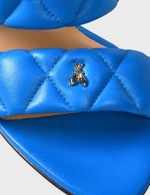 женские синие кожаные Шлепанцы Patrizia Pepe AGR-2VA174/A8X2-C859 - фото-5