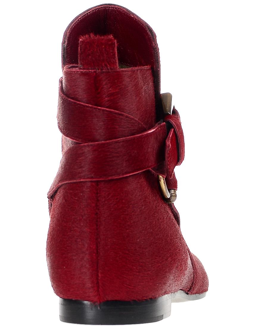 Фото 2 - женские ботинки и полуботинки  красного цвета