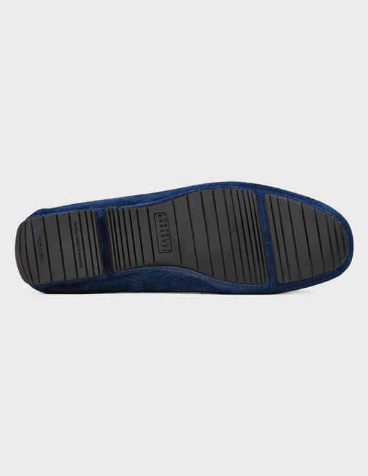 мужские синие замшевые Мокасины Fratelli Rossetti S28140-24206-blue - фото-5