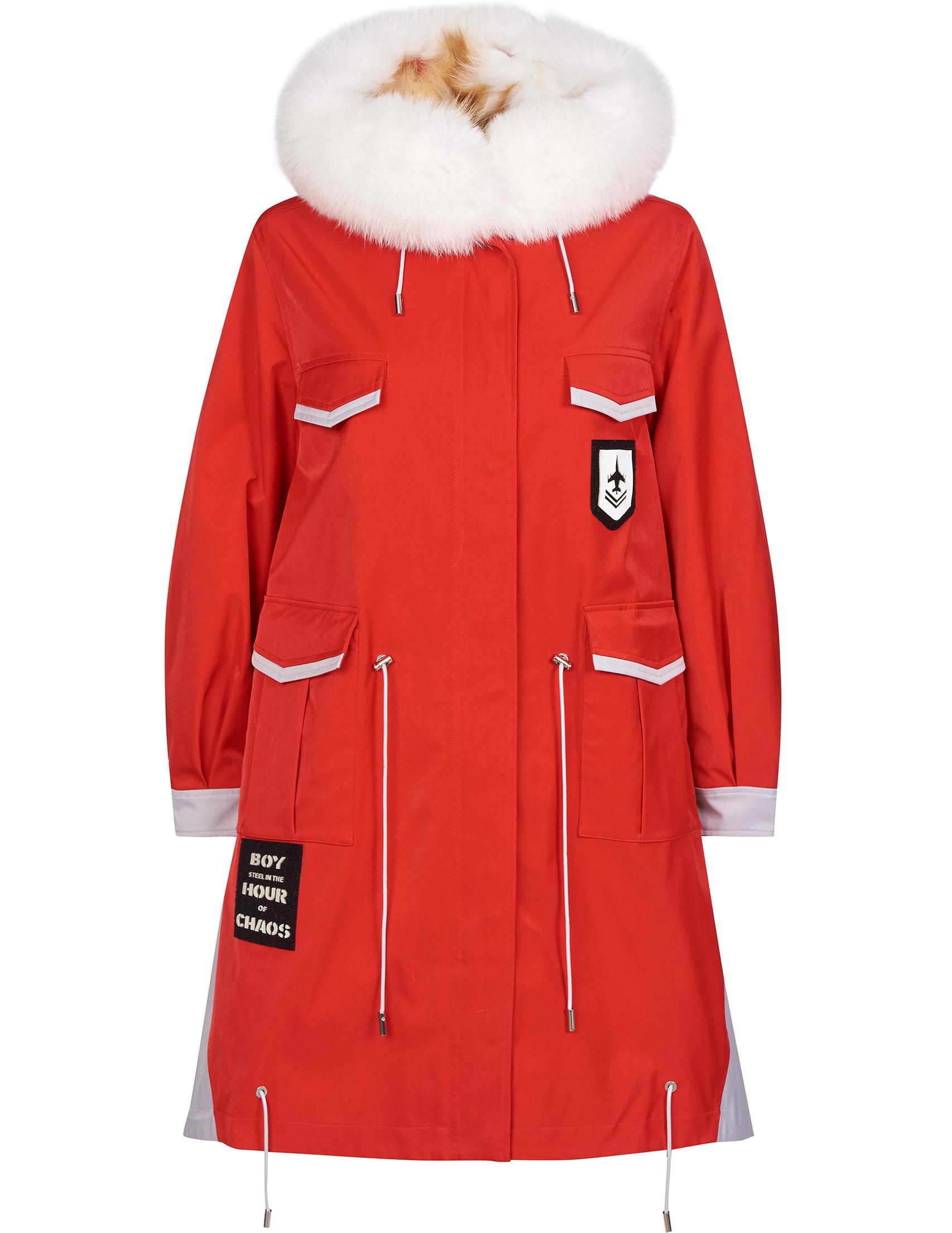 Купить Куртки, Куртка, BLAUER, Красный, 100%Полиэстер;100%Мех, Осень-Зима