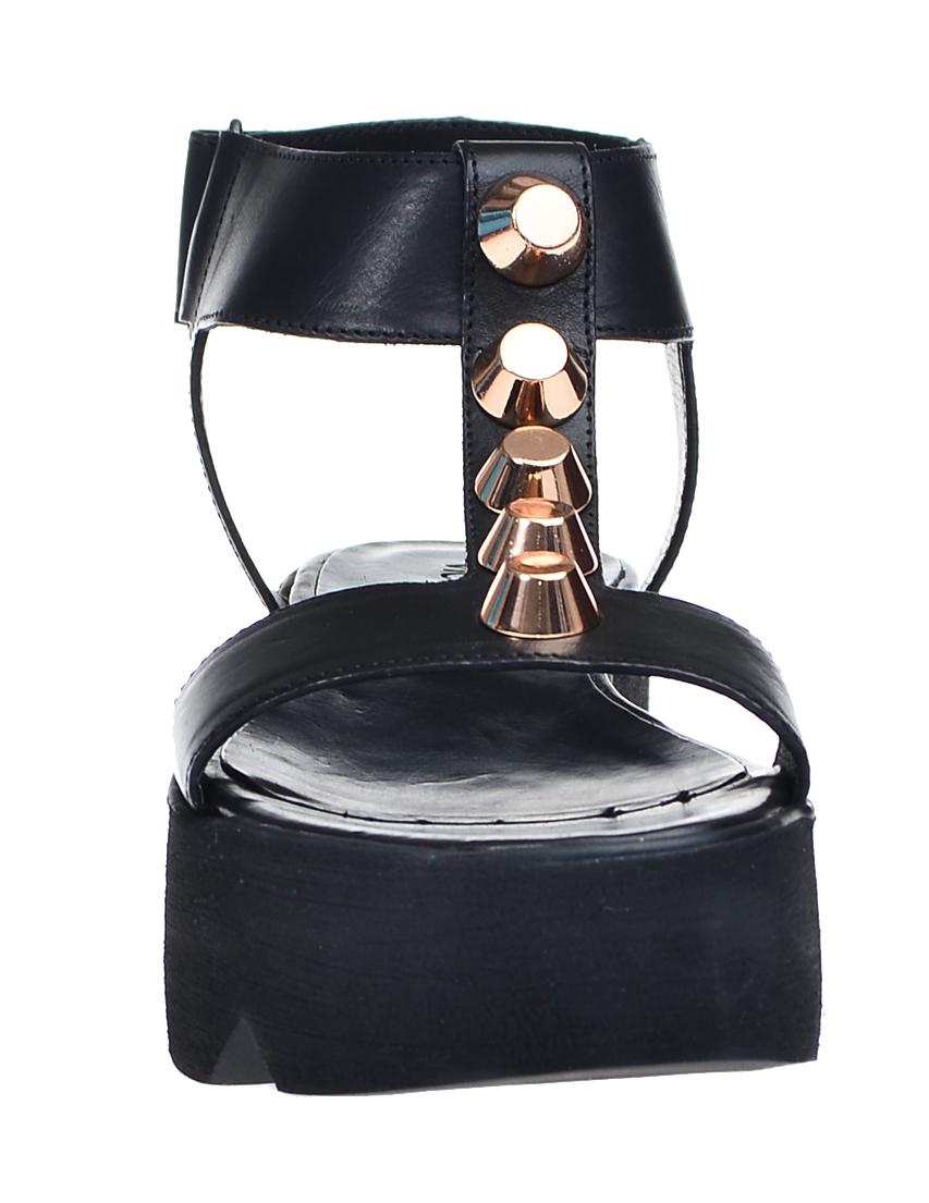 Фото 4 - женские сандали  черного цвета