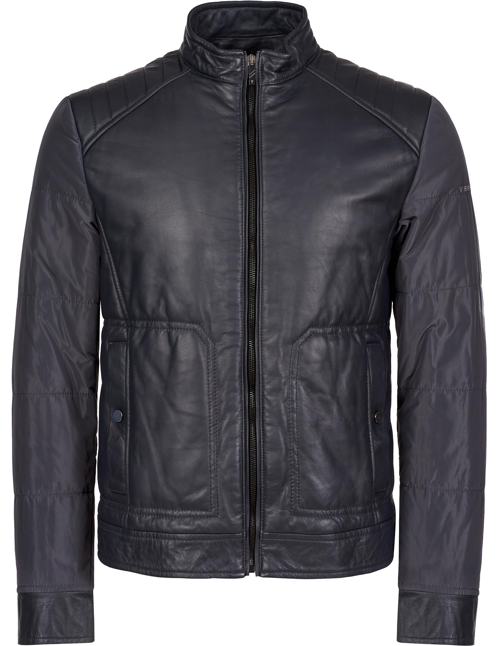 Купить Куртки, Куртка, VERRI, Серый, 100%Кожа;100%Полиэстер, Осень-Зима