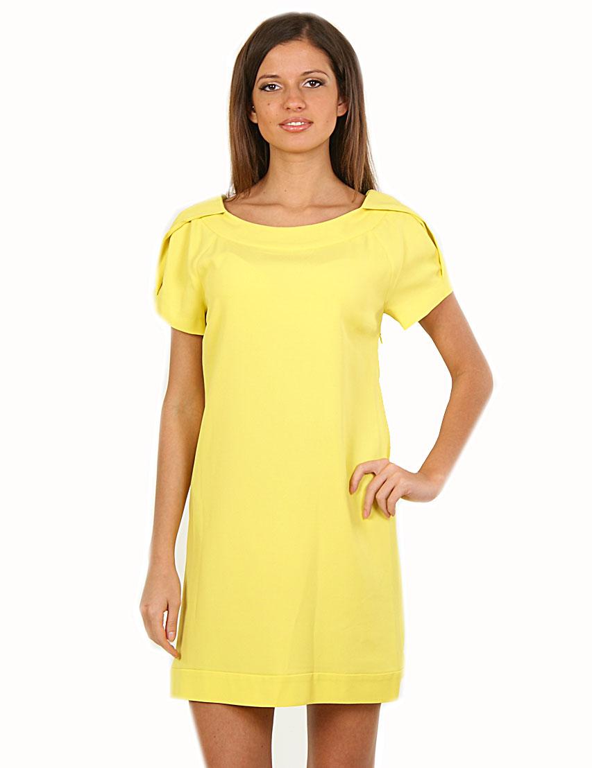Купить Платье, PATRIZIA PEPE, Желтый, 57%Ацетат 43%Вискоза, Весна-Лето