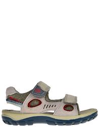 Детские сандалии для мальчиков Naturino 5725-grigio-kaki-blue-rosso_gray