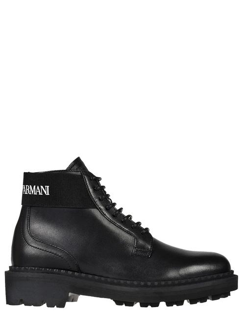 мужские черные кожаные Ботинки Emporio Armani X4M328-XM071-D267 - фото-5