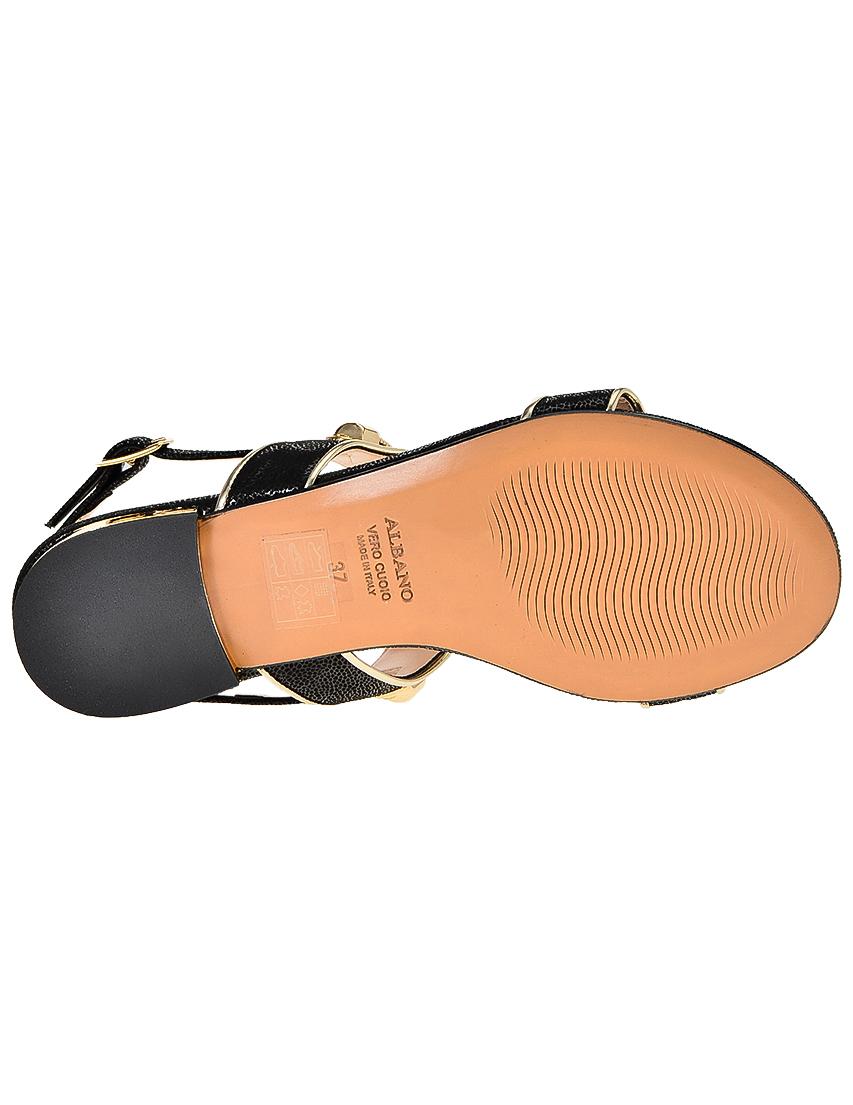 Фото 6 - женские сандали  черного цвета