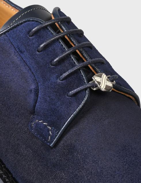 мужские синие замшевые Дерби Brimarts 314900C - фото-5