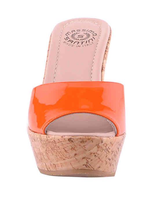 женские оранжевые Шлепанцы Massimo Santini 7901 - фото-6