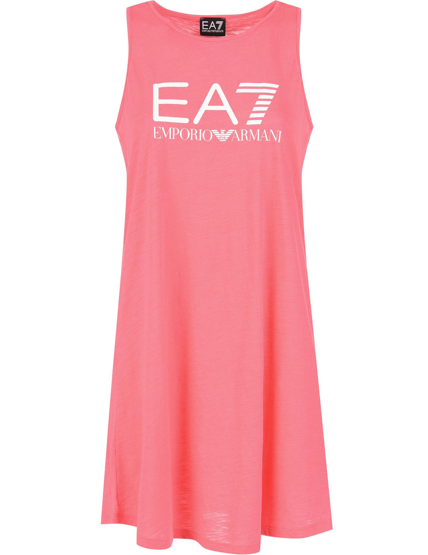 Купить Платья, Платье, EA7 EMPORIO ARMANI, Розовый, 35%Хлопок 65%Полиэстер, Весна-Лето