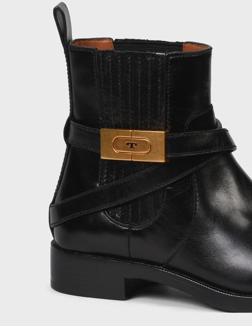 женские черные кожаные Ботинки Tory Burch 74354-BLACK - фото-5
