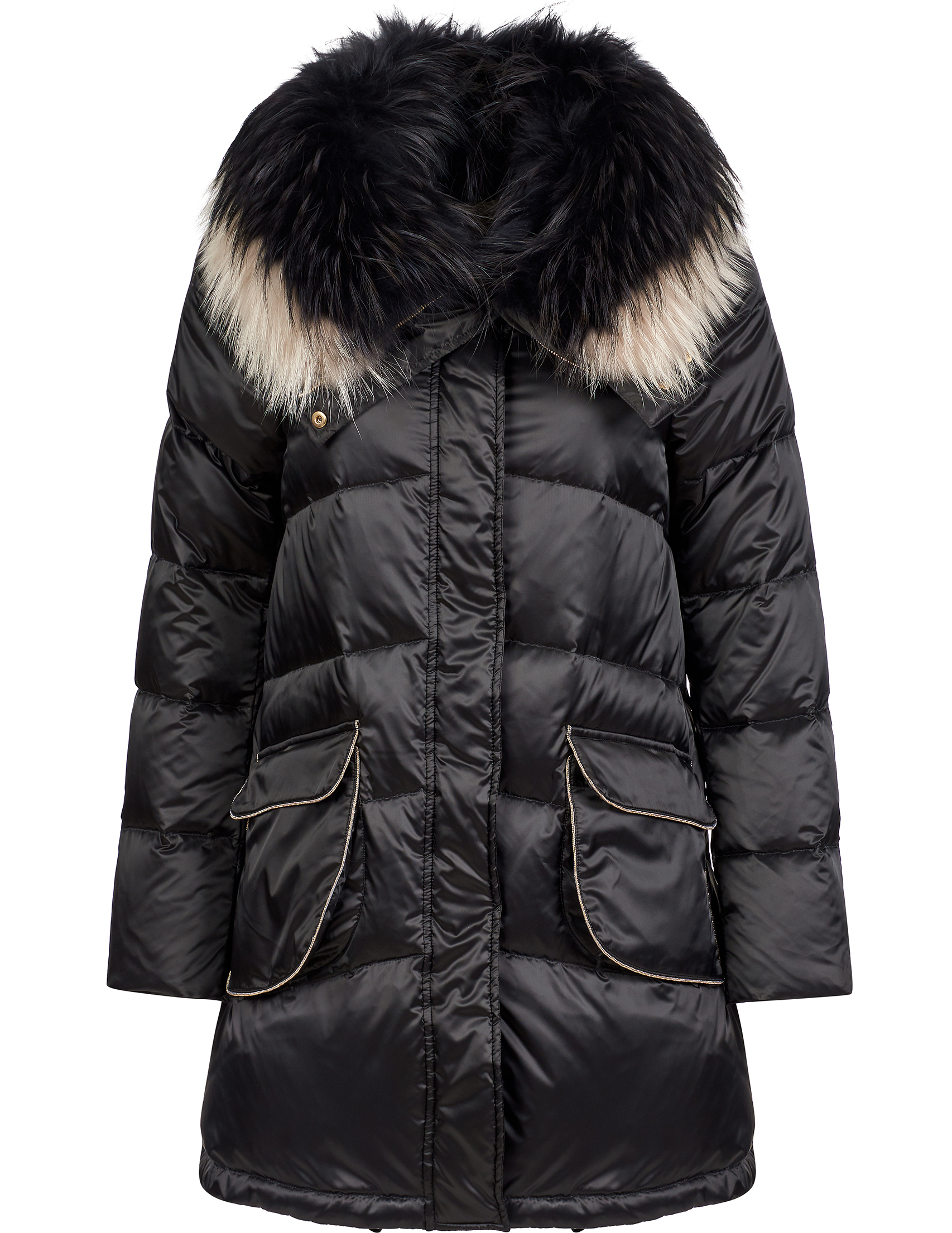 Купить Куртки, Куртка, GALLOTTI, Черный, 100%Полиамид;100%Полиэстер;100%Мех, Осень-Зима