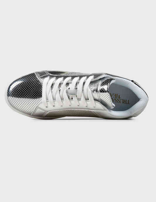 серебряные Кеды Trussardi Jeans 79A005289Y099998-M020 размер - 36; 38; 40