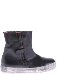 Детские ботинки для девочек NATURINO 3944-nero-cappuccino