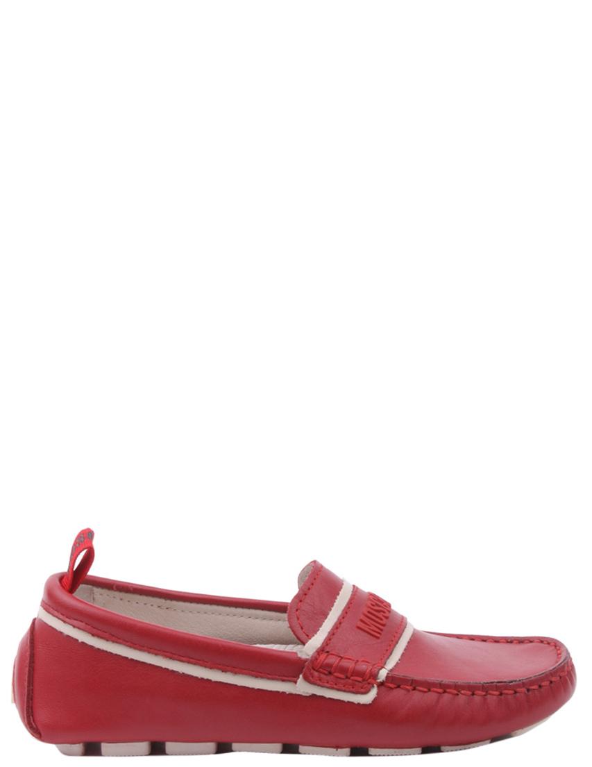 Детские мокасины для мальчиков MOSCHINO 25449-red