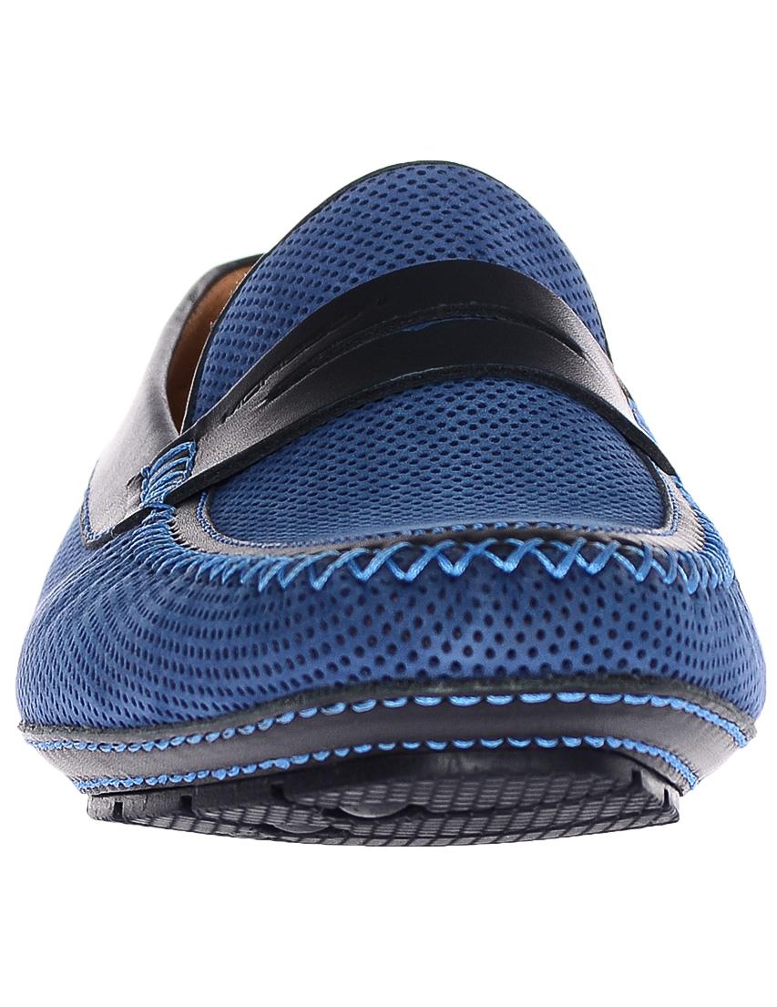 Фото 4 - мужские мокасины  синего цвета