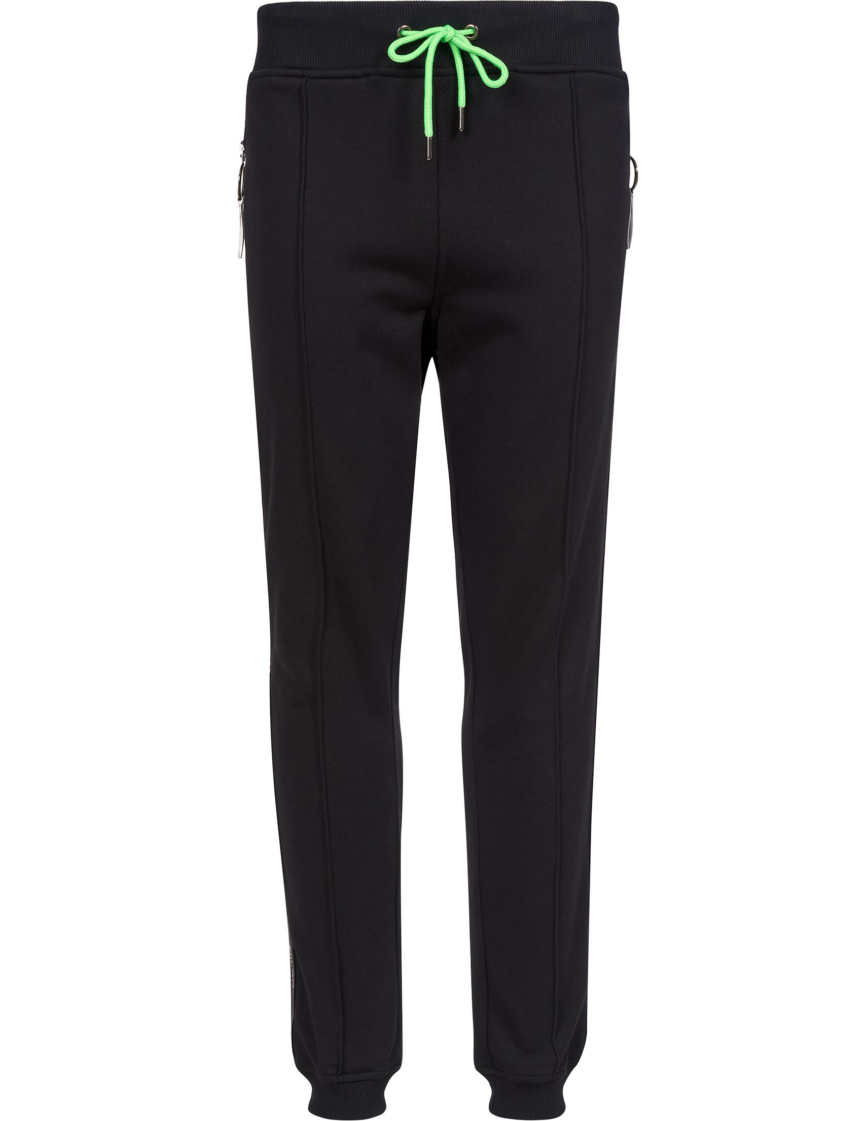 Купить Спортивные брюки, FRANKIE MORELLO, Черный, 100%Хлопок, Осень-Зима