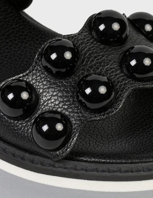 женские черные кожаные Босоножки Pertini 211W16693D2 - фото-5