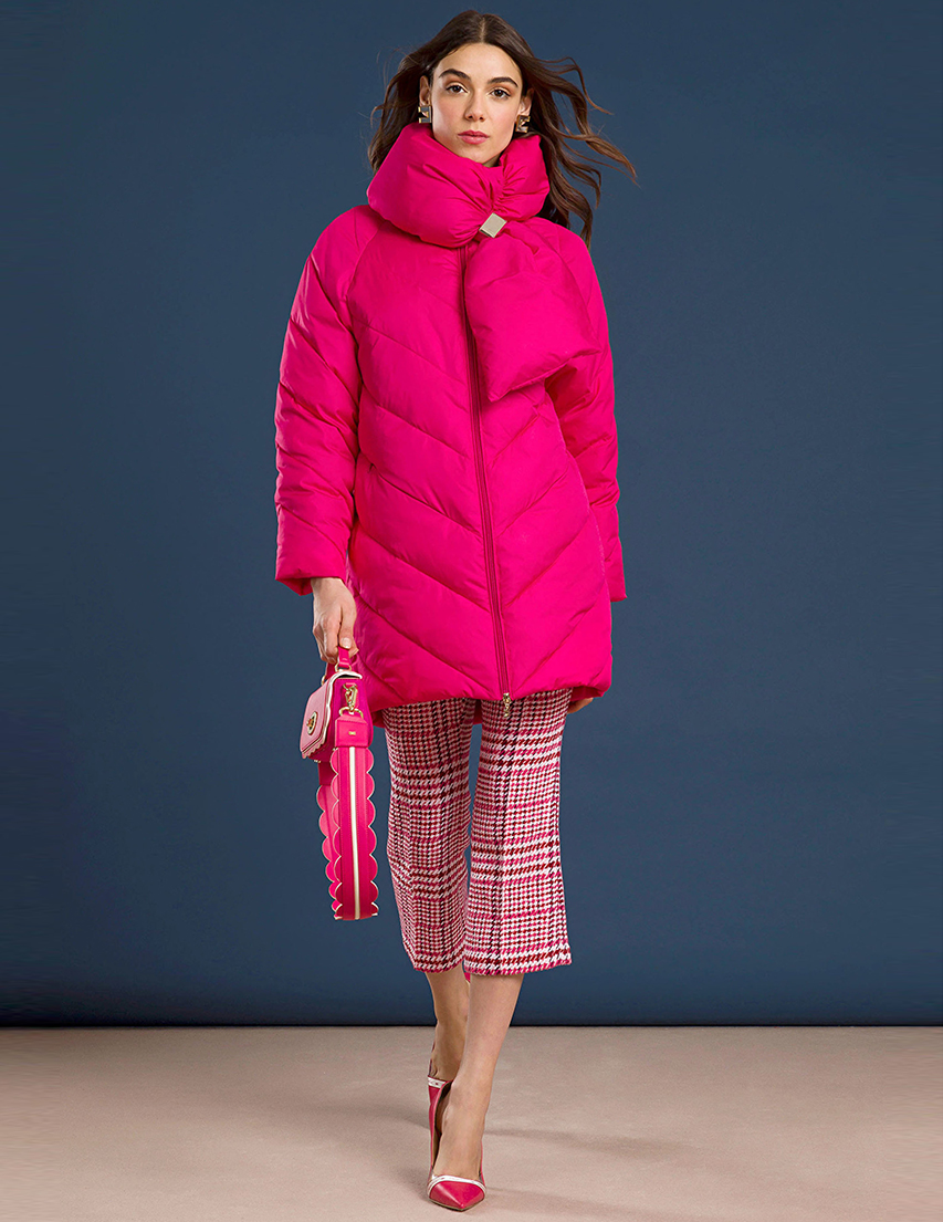 Куртки, Куртка, ELISABETTA FRANCHI, Розовый, 100%Полиэстер, Осень-Зима  - купить со скидкой