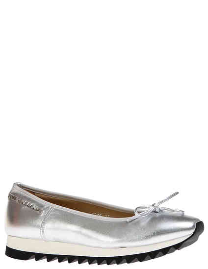 женские серебряные Балетки John Galliano 7906_silver - фото-2