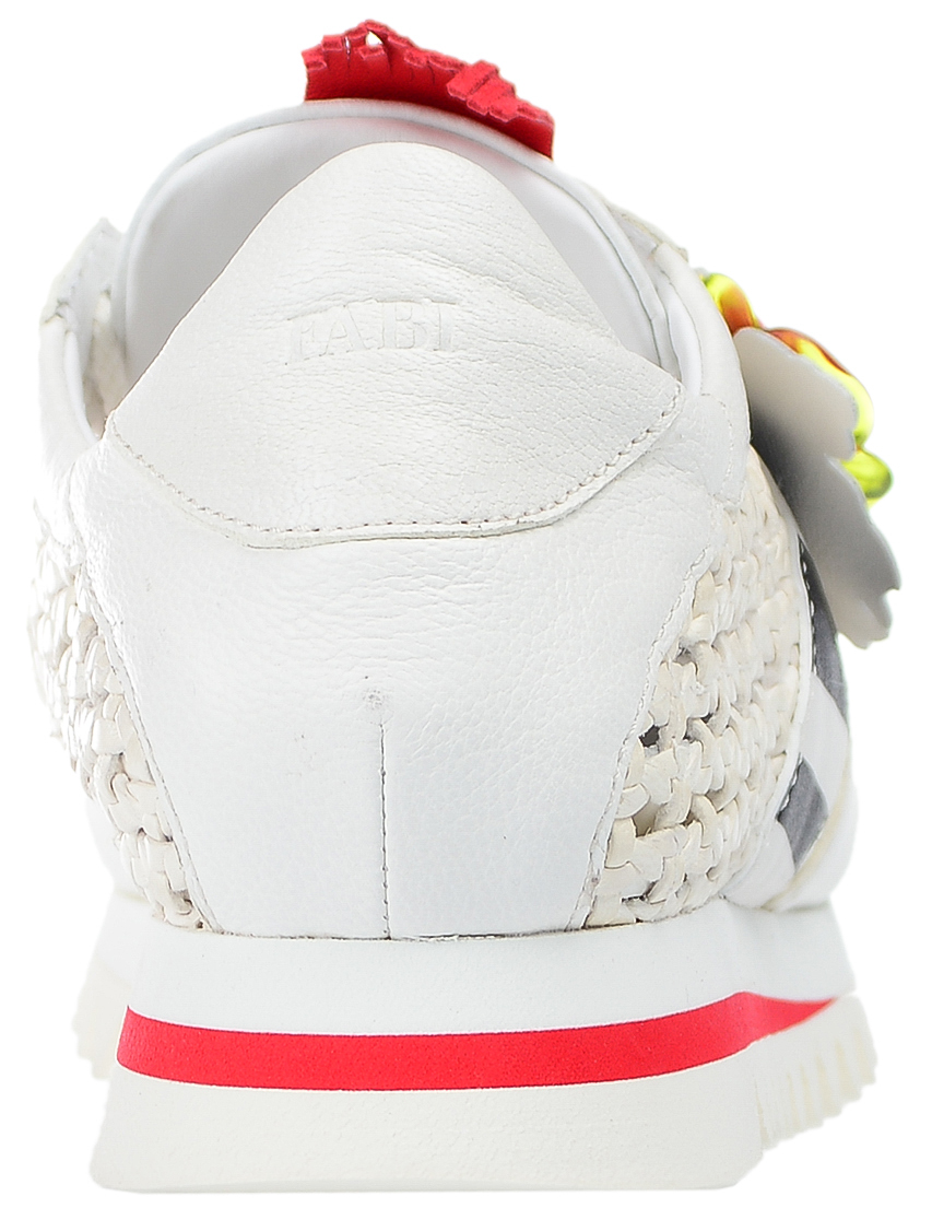 Кроссовки кожаные белые FABI (ITALY)