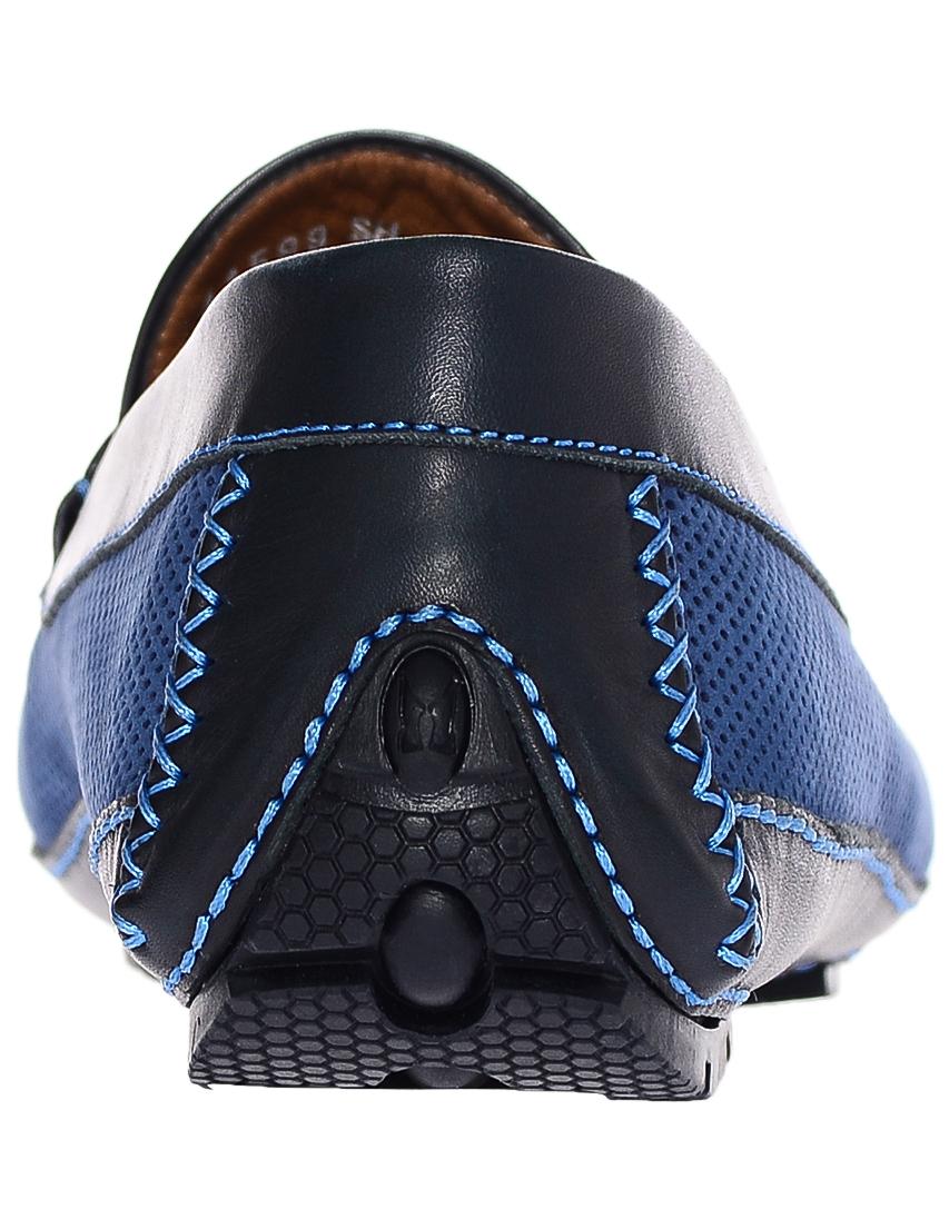 Фото 2 - мужские мокасины  синего цвета