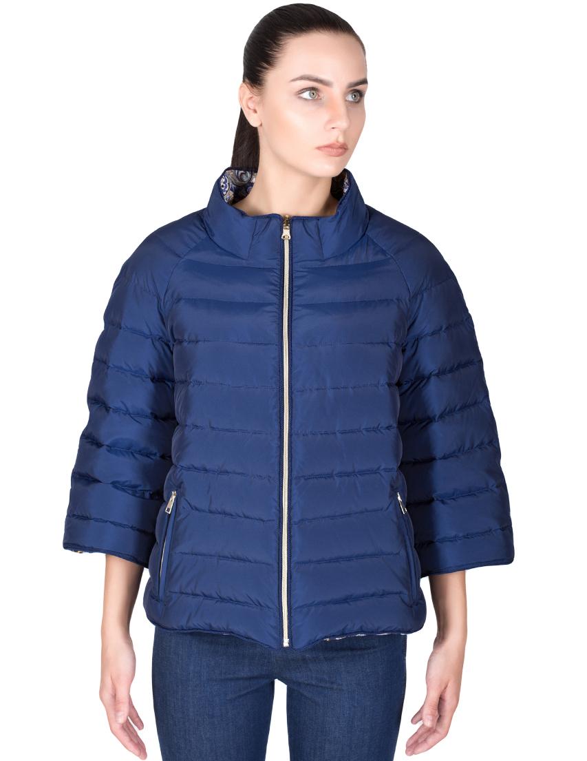 Купить Куртка, TSAREVNA, Синий, 58%Акрил 42%Полиэстер; подкладка: 100%Полиэстер; наполнитель: гусиный пух, Осень-Зима