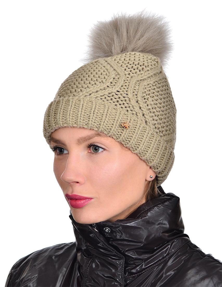 Купить Шапка и шарф, TRUSSARDI JEANS, Бежевый, 100%Акрил, Осень-Зима