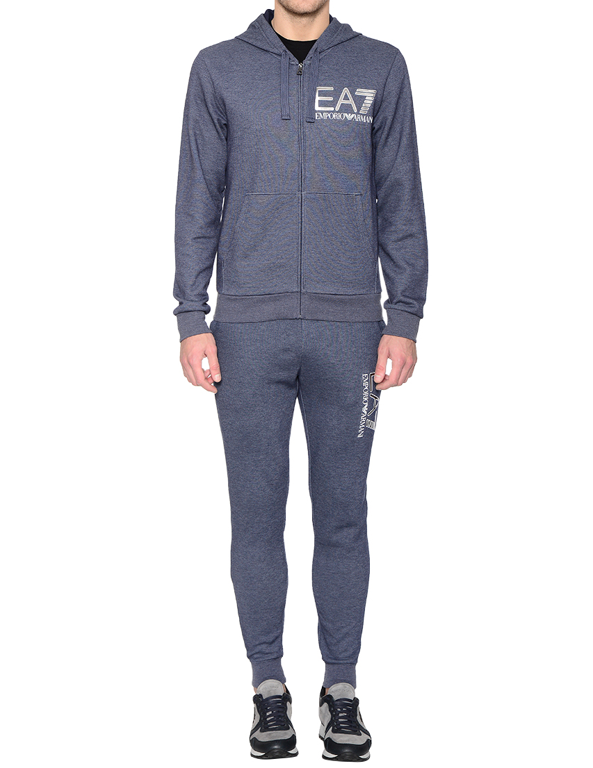 Купить Спортивный костюм, EA7 EMPORIO ARMANI, Синий, 58%Хлопок 39%Полиэстер 3%Эластан, Осень-Зима