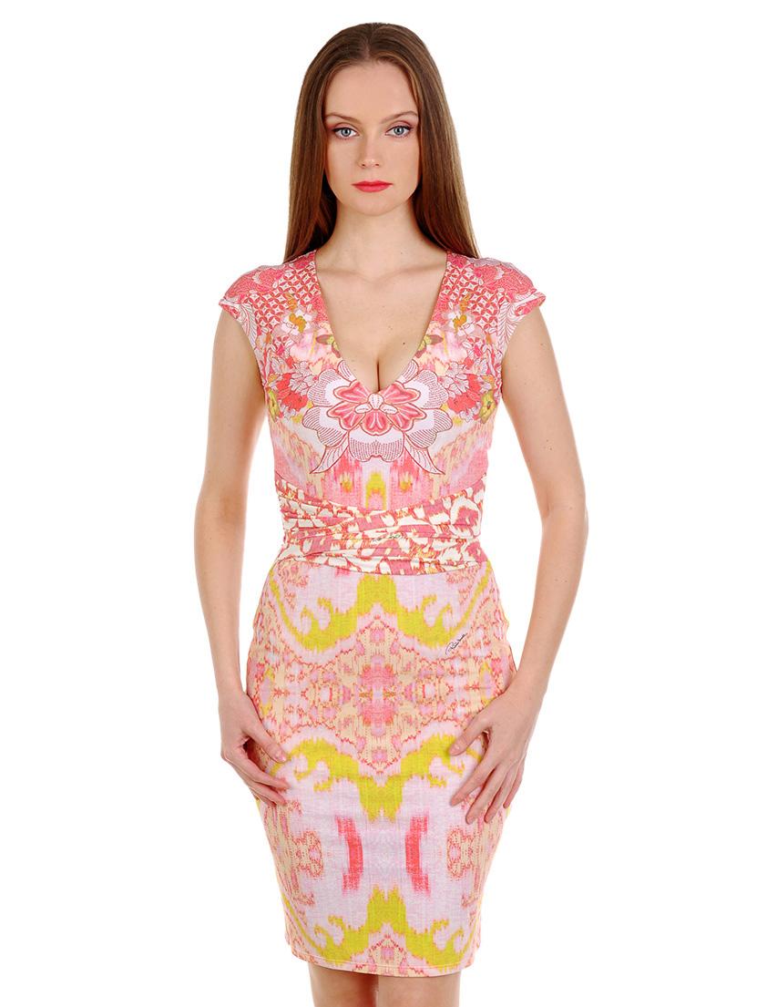 Купить Платье, ROBERTO CAVALLI, Розовый, 88%Полиамид 12%Эластан, Весна-Лето
