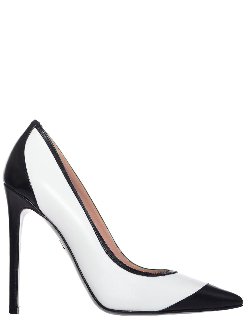 Туфли, GIORGIO FABIANI, Белый, Черный, Весна-Лето  - купить со скидкой