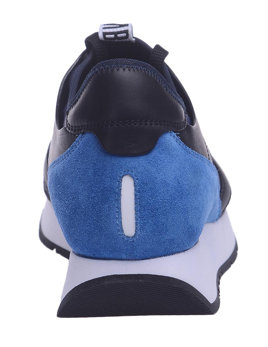 Текстильные синие кроссовки BIKKEMBERGS (ITALY)