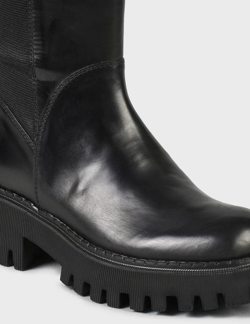женские черные кожаные Сапоги Loriblu 2I4TL00800 - фото-5