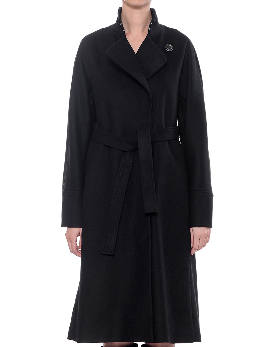 Купить Пальто, PATRIZIA PEPE, Черный, 75%Шерсть 5%Кашемир 20%Полиамид, Осень-Зима