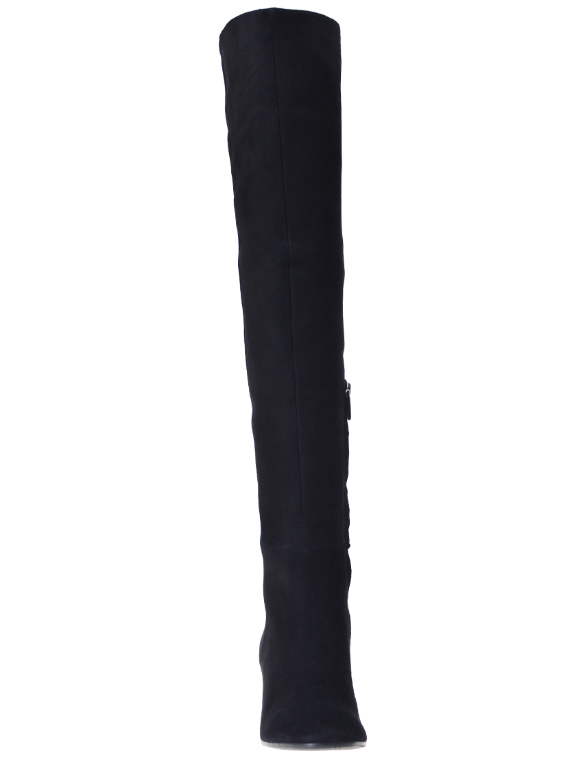 Фото 4 - женские ботфорты  черного цвета