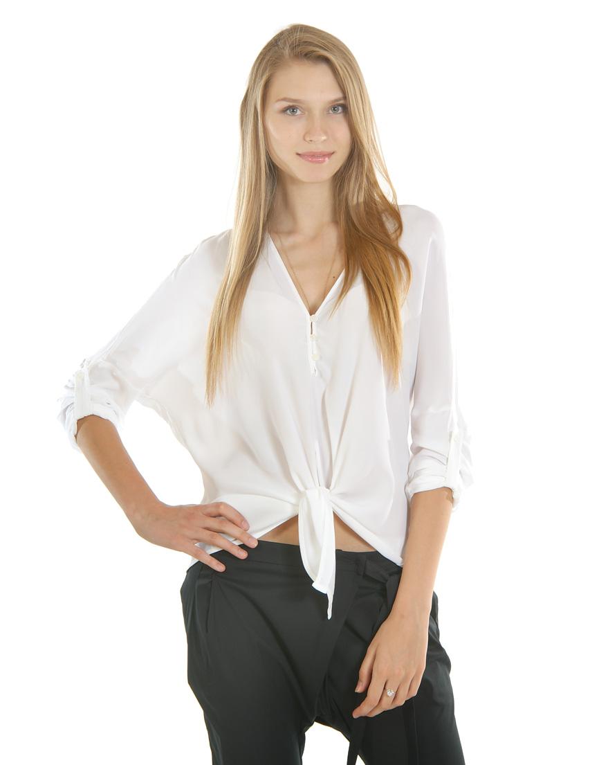 Купить Блуза, PATRIZIA PEPE, Белый, 65%Акрил 35%Шелк, Весна-Лето
