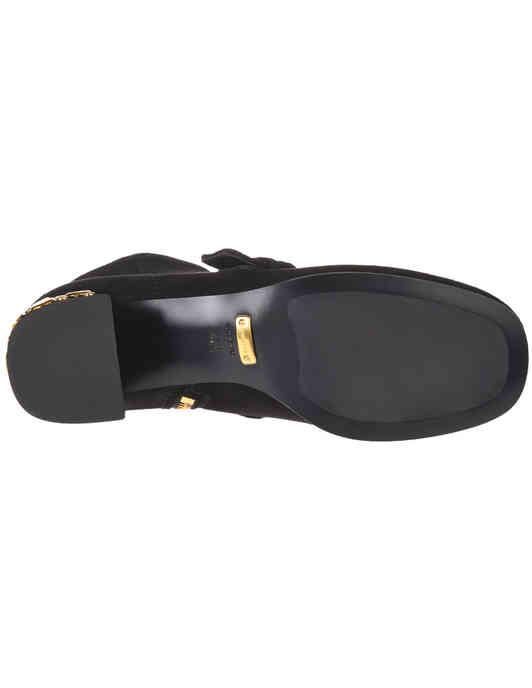женские черные замшевые Ботильоны Car Shoe KDT53N008F0002_black - фото-5