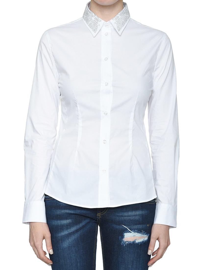 Купить Рубашка, FRANKIE MORELLO, Белый, 98%Хлопок 2%Эластан, Весна-Лето