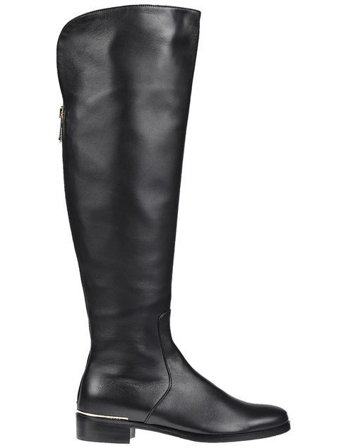 женские черные кожаные Ботфорты Essere 4123_black - фото-5