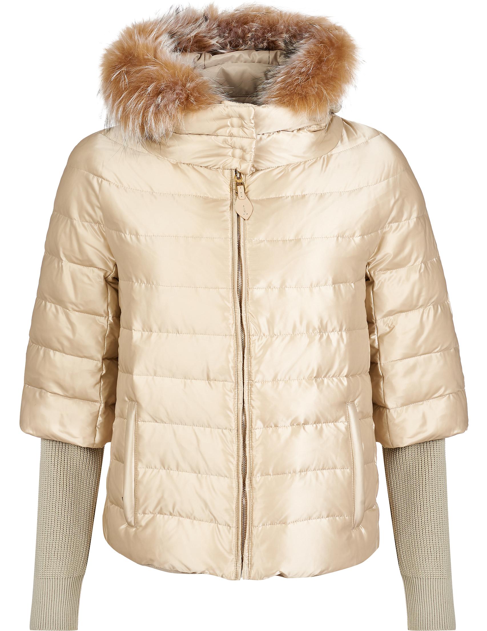 Купить Куртки, Куртка, GALLOTTI, Бежевый, 100%Полиамид;100%Полиэстер;100%Мех, Осень-Зима