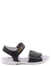 Детские сандалии для девочек MOSCHINO 25262nero