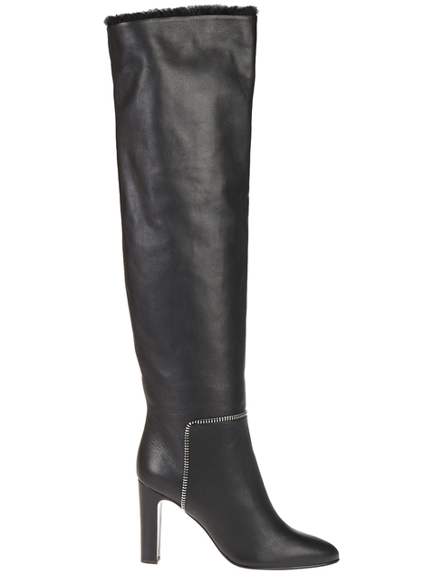 черные Ботфорты Giuseppe Zanotti 880030001_black размер - 38; 39; 40