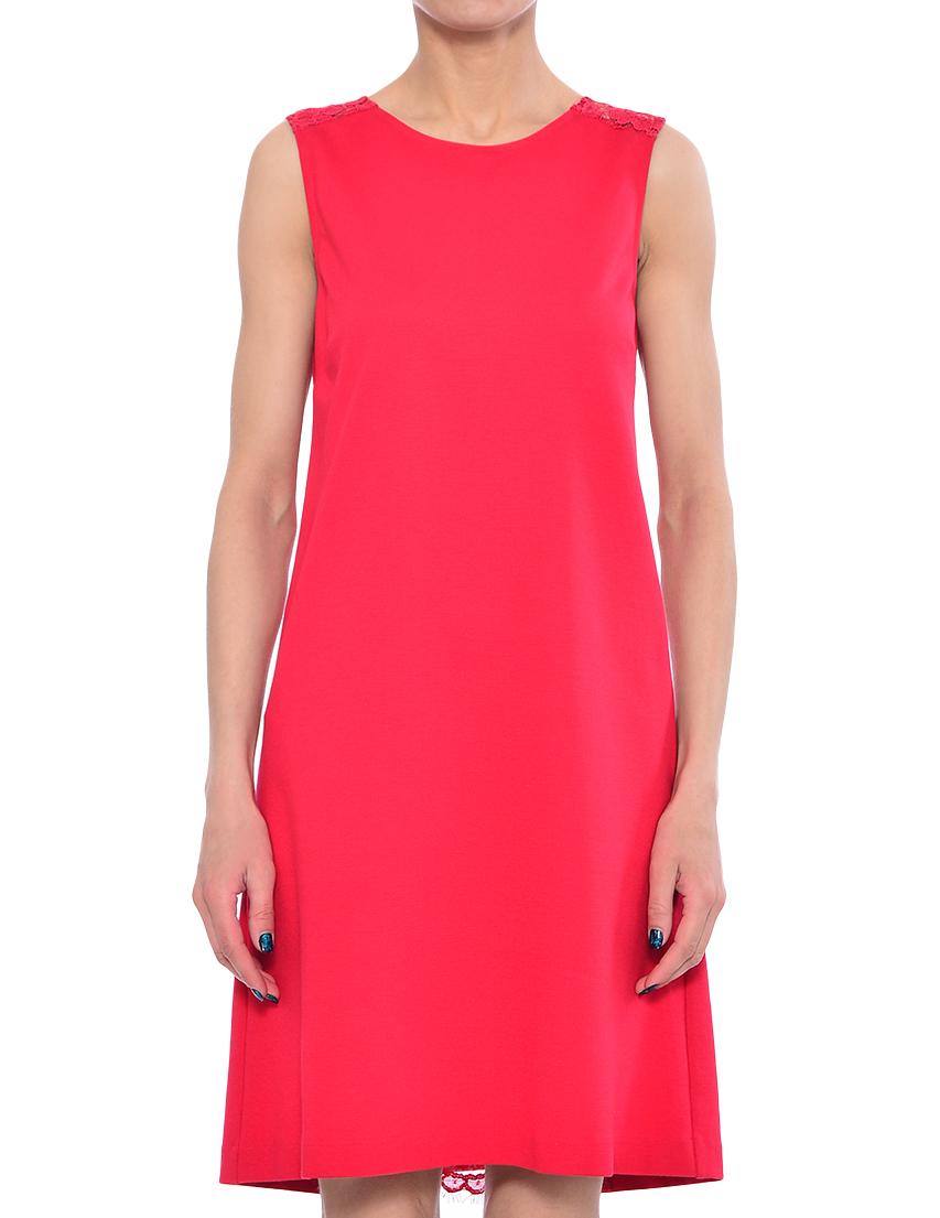 Купить Платье, TWIN-SET, Красный, 62%Вискоза 31%Полиамид 7%Эластан, Весна-Лето