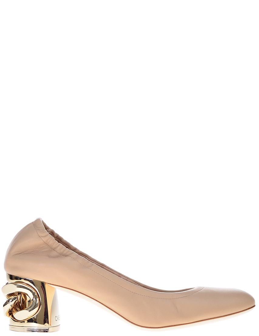 Фото - женские туфли  бежевого цвета