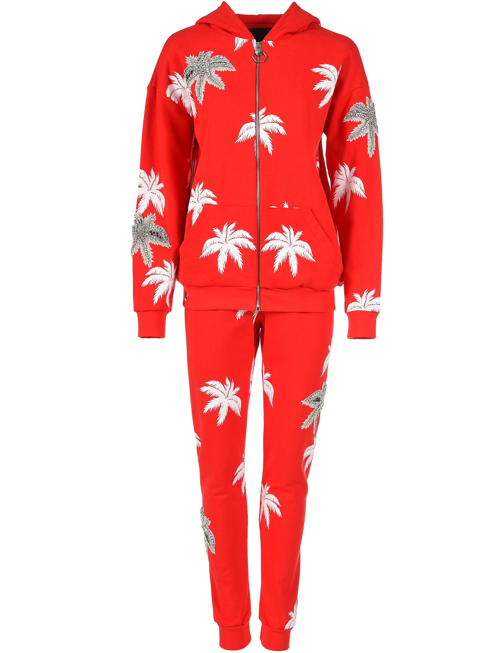 Купить Спортивные костюмы, Спортивный костюм, PHILIPP PLEIN, Красный, 100%Хлопок, Весна-Лето