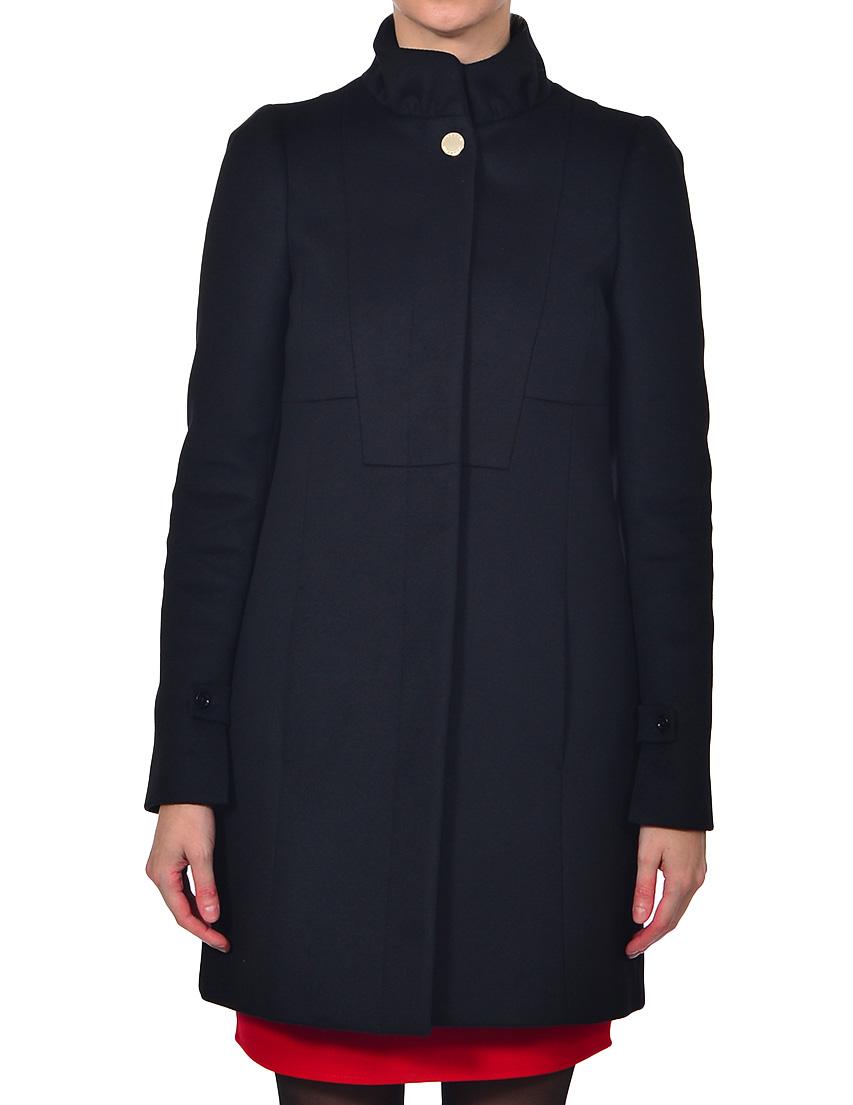 Купить Пальто, PATRIZIA PEPE, Черный, 75%Шерсть 5%Лиоцелл 20%Полиамид, Осень-Зима