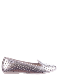Детские балетки для девочек MOSCHINO 25466-silver