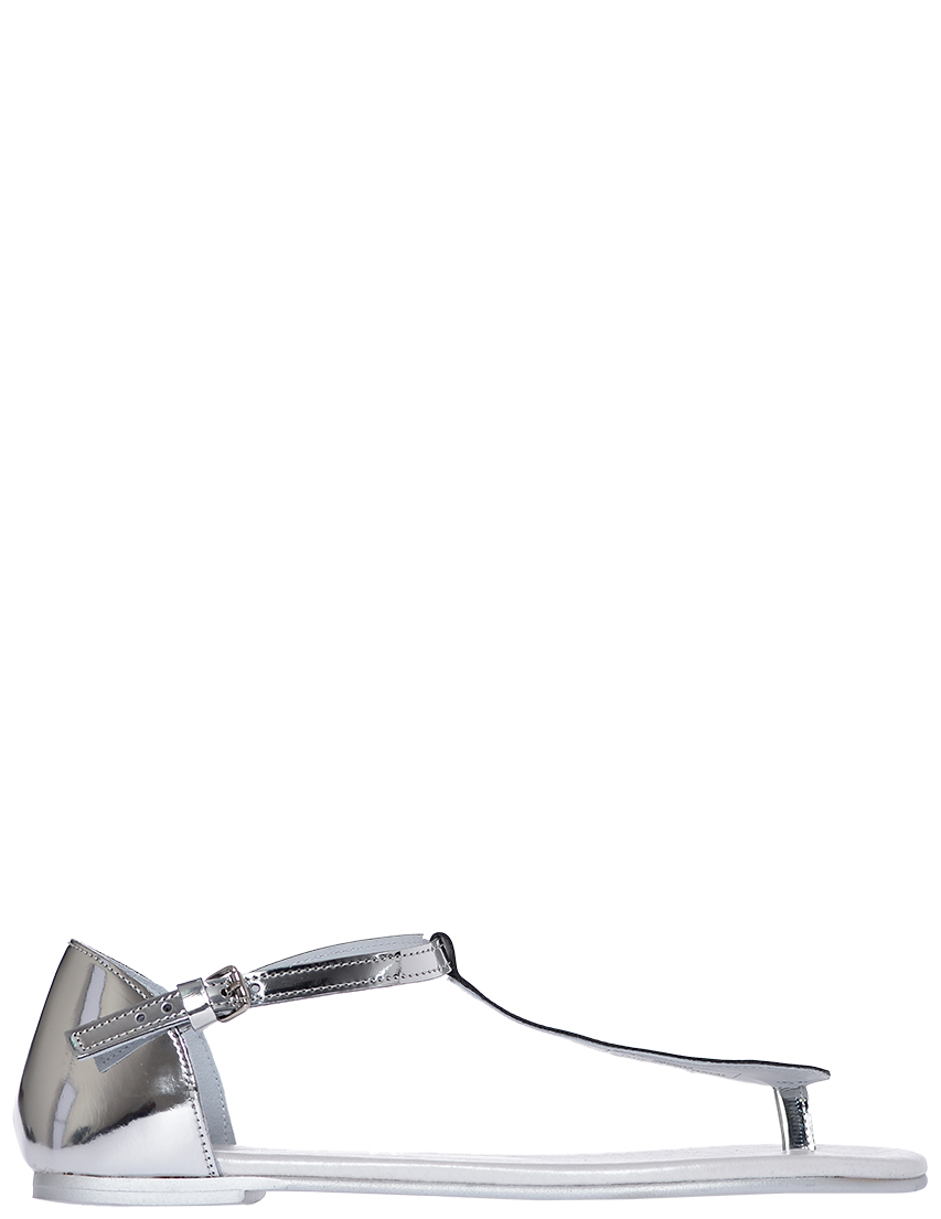 Фото - женские сандали  серебрянного цвета