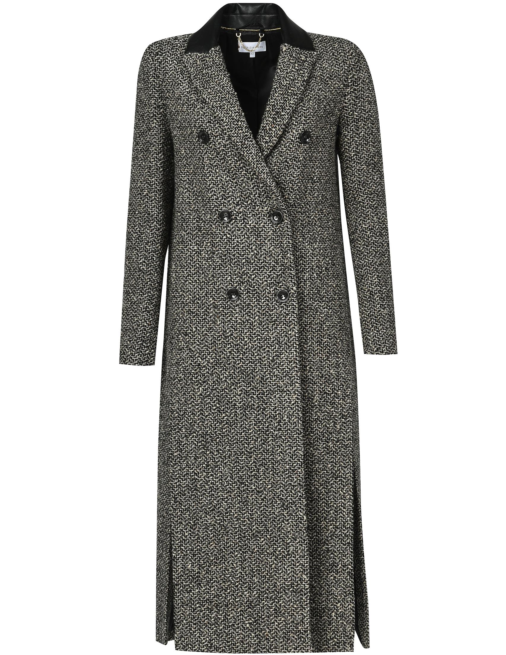 Купить Пальто, PATRIZIA PEPE, Серый, 42%Акрил 44%Шерсть 5%Полиамид 9%Полиэстер, Осень-Зима